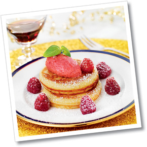 American pancake med fruktfraiche
