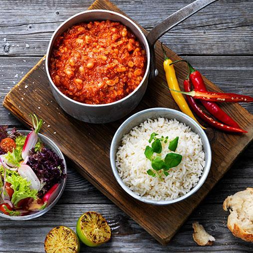 Veggie färs chili sin carne