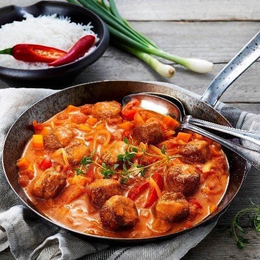 Veggie boulette i krämig tomatsås