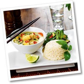 Quorn i grön curry
