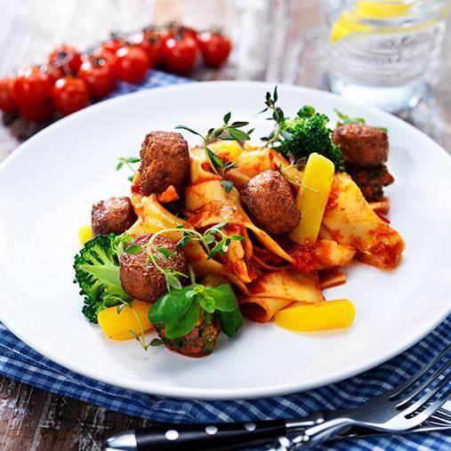 Veggie boulette med tomatsås provençale