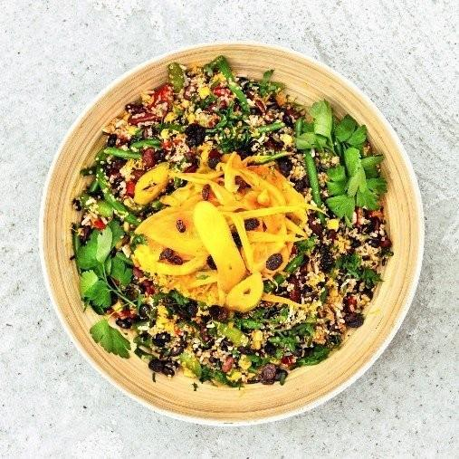 Julig quinoa med apelsin och saffran