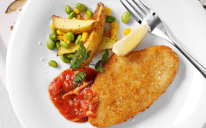 Västerhavsfisk med rostad potatis och sojabönor
