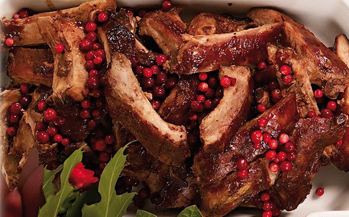 Lingonglaze med chipotletabasco till loinribs