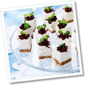 Jordärtskockscheesecake med topping A-kost
