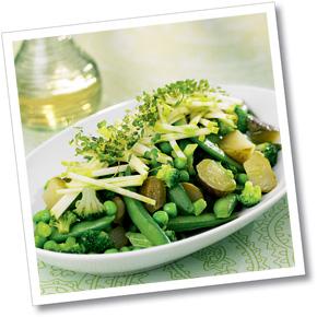 Grön grönsaksblandning