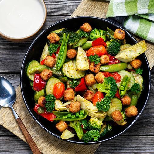 Veggie boulette, liten med Rotfrukspytt