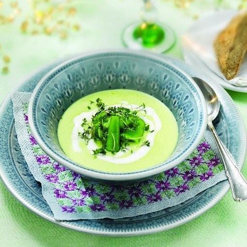 Bönsoppa med syrad grädde A-kost