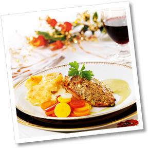 Kycklingfilé med potatis- och palsternacksgratäng A-kost