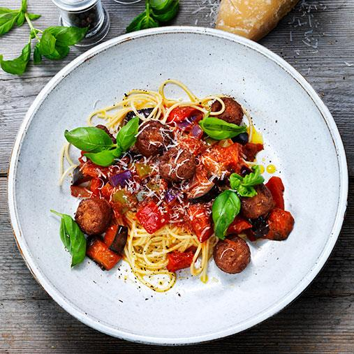 Italiensk Veggie boulette med ratatouille